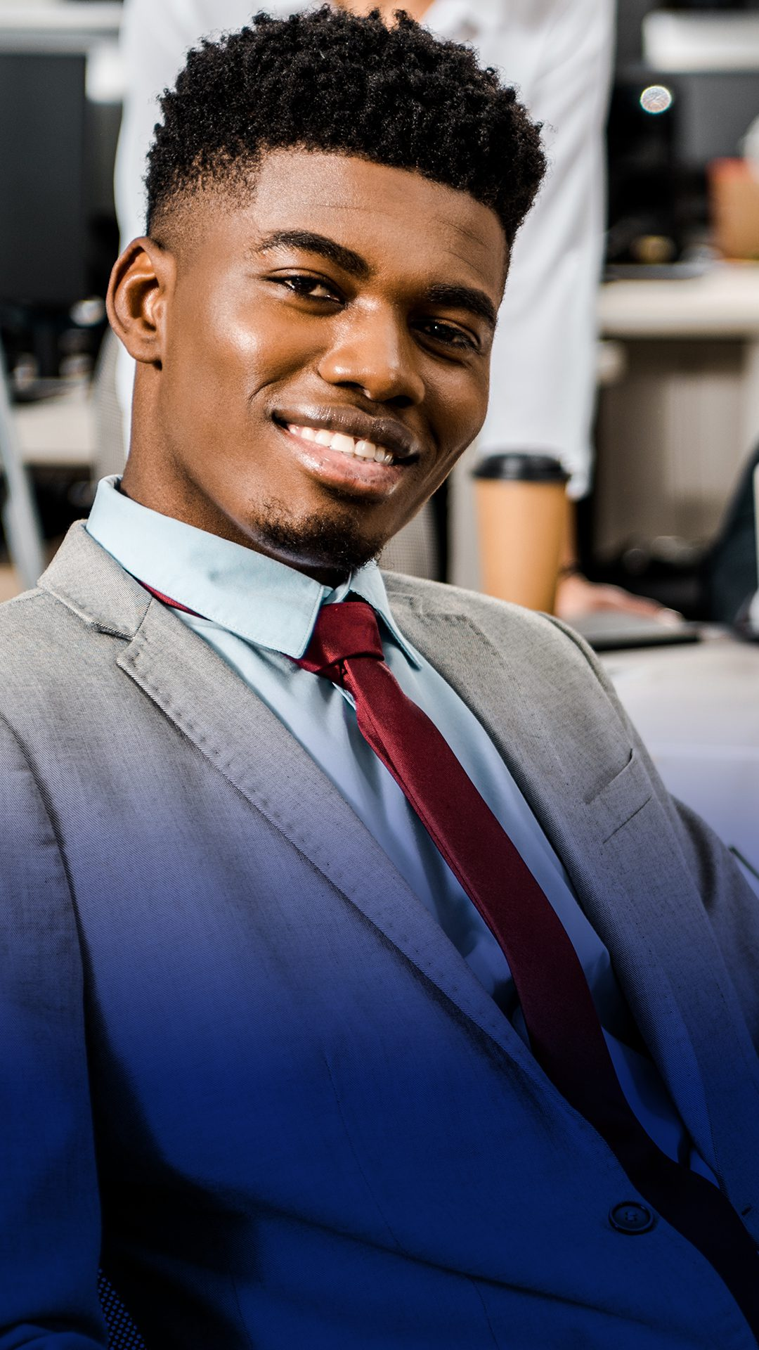 Black Man with Red Tie