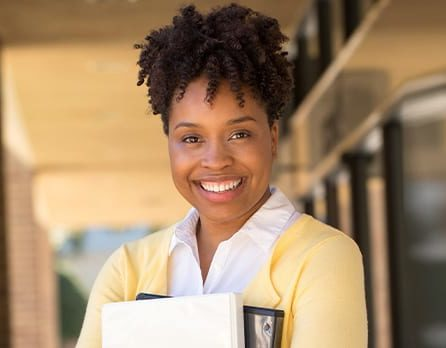 Master of Arts in Economic Policy female student smiling